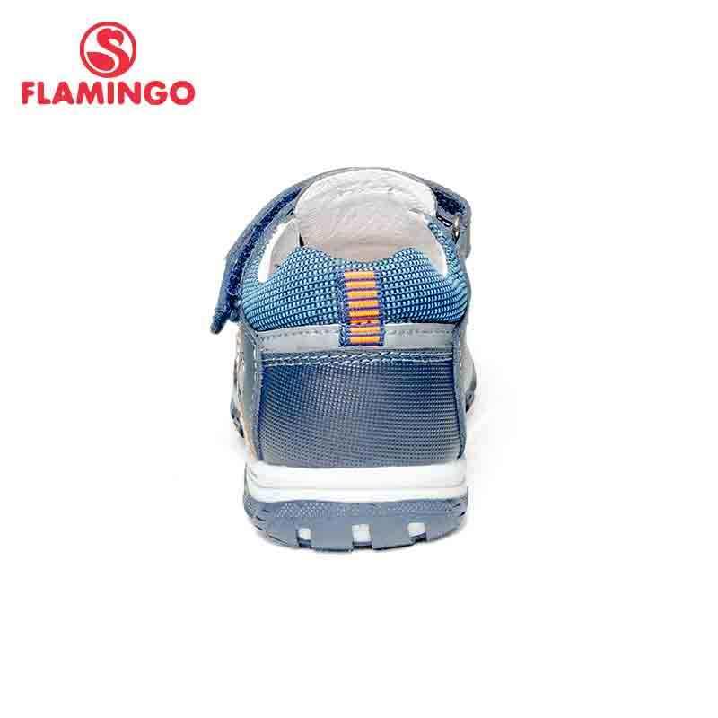 FLAMINGO ฤดูร้อน Hook & Loop ผสมสี Casual รองเท้าเด็กเล็กรองเท้าแตะกลางแจ้งแบนสำหรับ boy ขนาด 25-30 จัดส่งฟรี 81S-XY-0784