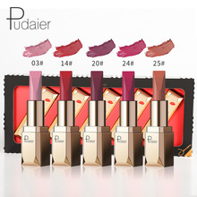 Miss Rose New Pop 5pcs/set Matte Lipstic Nude Long Lasting Waterproof Sexy Red for Lip Tin