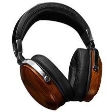 Original HiFi Wooden Metal Headphone Headset Earphone Headphones Gaming With Beryllium Alloy Driver protein Leather Cushion T45