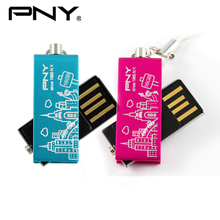 PNY 2016 USB Flash Drive 16GB 32GB Metal Lovely Attache Flower Pen Drive USB Stick Storage Device USB 2.0 New York Disk Pendrive