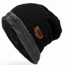 2016 Fashion Bonnet Gorros Caps For Men Women Thick Winter Beanie Men Knitted Hat Warm Skullies & Beanies With Velvet KC014