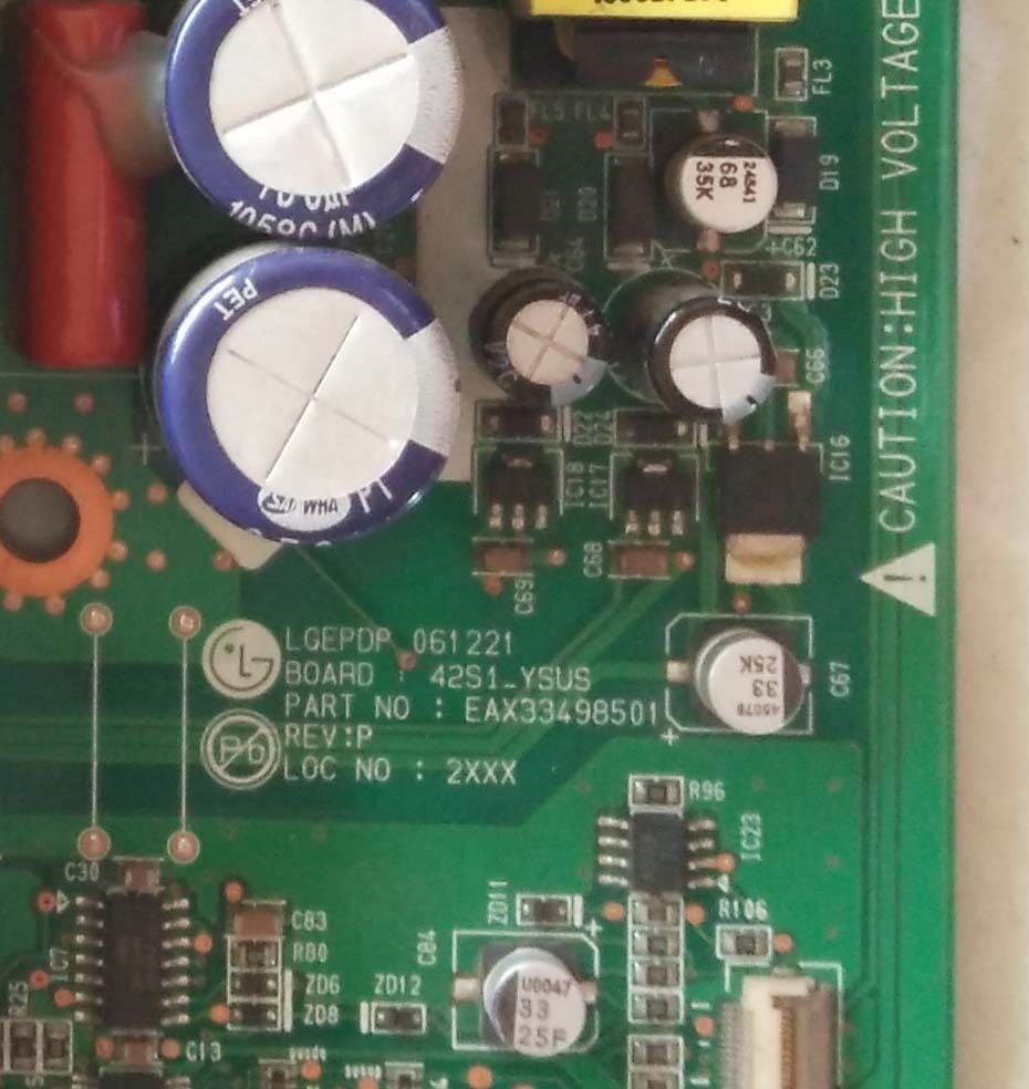 Pukido Used Original 42P98MV Y board 42S1 EAX33498501 EBR33499501 power board Plug Type: Universal