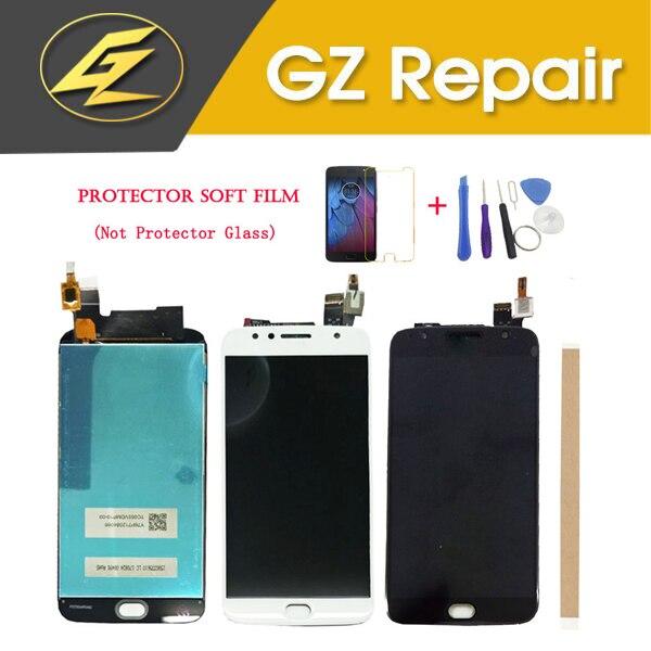 Para Motorola Moto G5S Plus XT1802 XT1803 XT1804 LCD Display Com Sensor de Toque Digiziter Vidro Ouro Preto Com Kits de Montagem