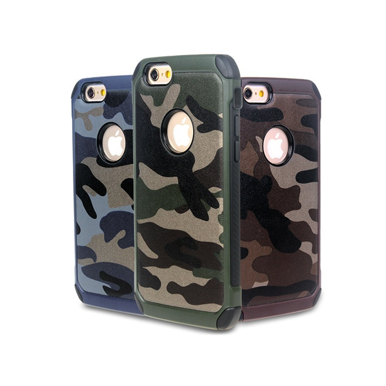 Silicone cases for iPhone 6S Camouflage Silicone+PC Combo Case Cover For iphone 6 4.7 inch