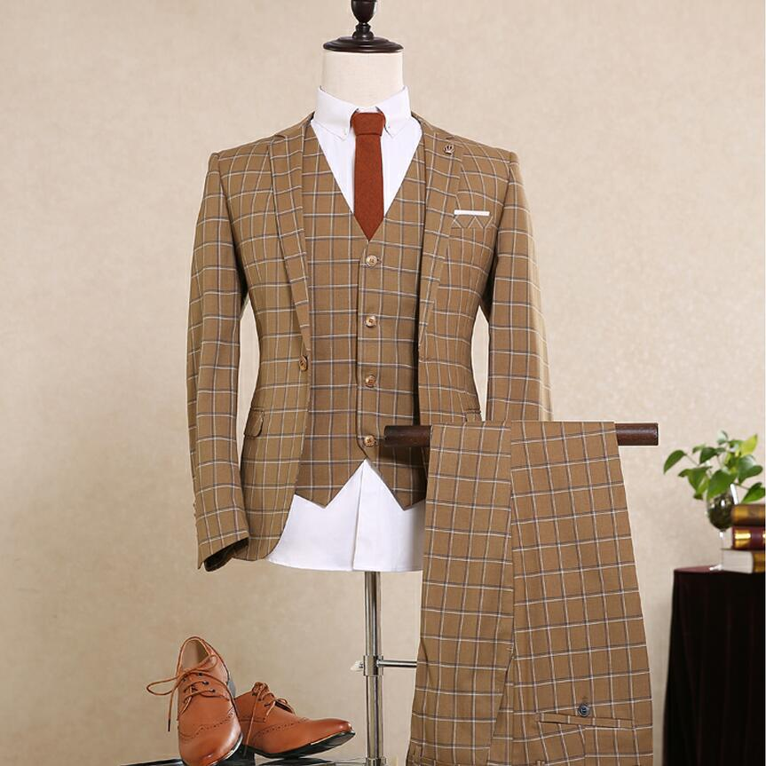 Custom mens suits blazer single breasted prom wedding men for Custom suits and shirts