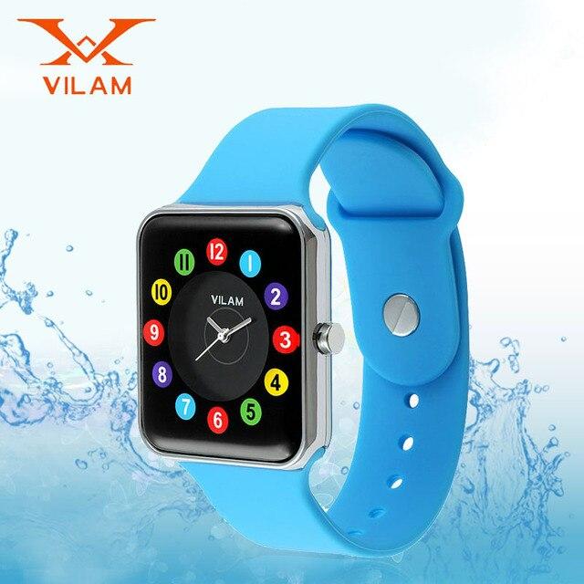 Vilam New Fashion kids watches Candy Color Quartz Girl Watch boys  Silicone clock Designer sports children wrist watch 15011B