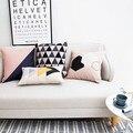 Nordic Decoration Coussin Geometrique Cushion Pillow Linen Fundas Cojines Sofa Fundas  Throw Pillow Almofadas Cushions