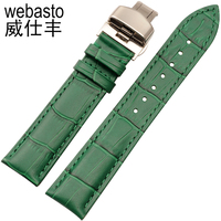 Webasto Green Watch Band For Rolex Submariner Cow Leather Straps Width 12 14 16 18 20 22mm Buckle Watch Strap Watchbands