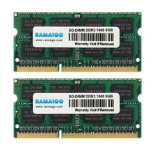 DDR3 RAM DDR3L 4GB 8GB 16GB 1600MHz 1333MHZ 1.5V PC3L 12800 204Pin 1.35V CL11 SODIMM ذاكرة عشوائية Ram الكمبيوتر المحمول ل iMac جميع أجهزة الكمبيوتر المحمول