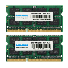 RAMAIGO DDR3L DDR3 Laptop Memory SODIMM Notebook RAM 1.35V 1.5V DDR3 4GB 8GB 16GB 1600mhz 1333mhz 204pin patriot ddr3 sodimm 8gb 1600mhz pc12800 psd38g1600l2s