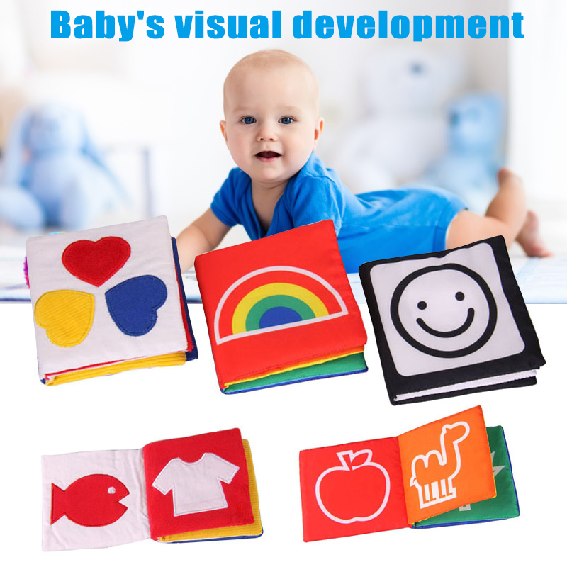 Stimulate Vision Soft Colorful Cotton Fabric Baby Book Early Educational Supplies YJS Dropship