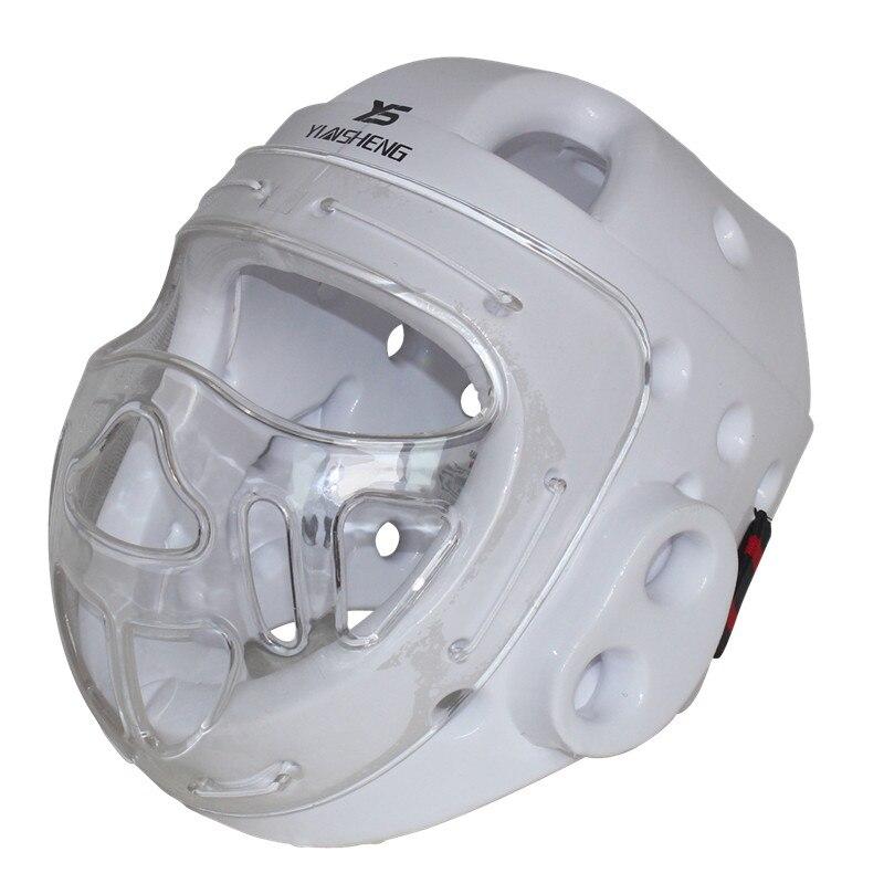 Взрослый, ребенок, тхэквондо шлем карате добок Кикбоксинг Санда защиты головы с маска на лицо capacete ITF WTF обучение протектор