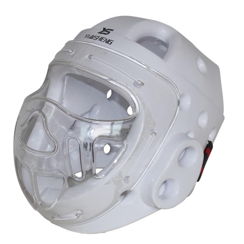 Casque de Taekwondo enfant adulte karaté Dobok Kickboxing Sanda Protection de tête avec masque facial capacete ITF WTF protecteur d'entraînement