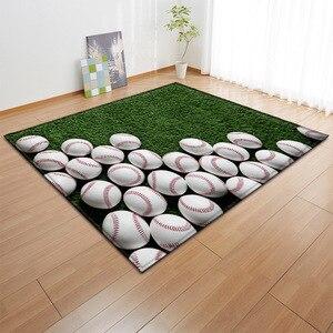 Image 2 - Alfombra con estampado 3D para niños alfombra con estampado 3D para baloncesto, sala de estar, juegos de fútbol, regalo de cumpleaños