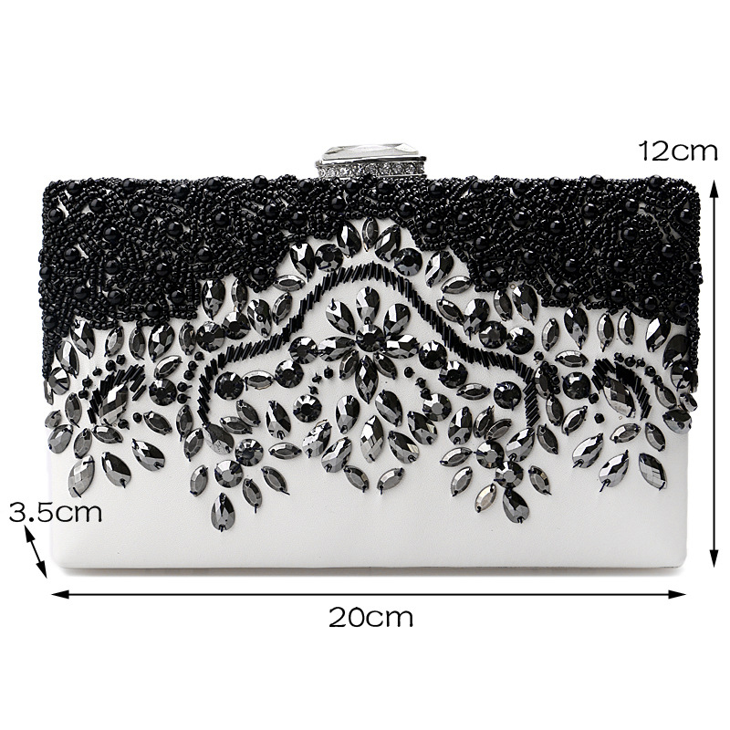 Taliyah Brand Handbags 2018 Women Black Clutches Wedding Bags Female ... f91a88a8e611a