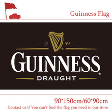 Free shipping Guinness Beer Flag 3x5ft Custom Banner 90x150cm 60x90cm Sport