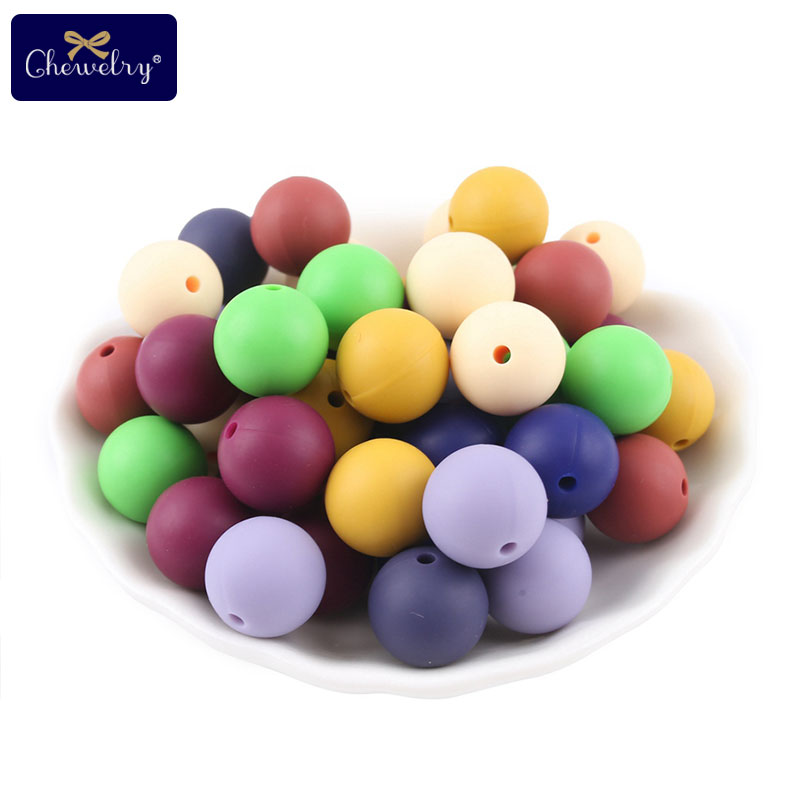 30pc Food Grade Silicone Beads 12mm Pearl Silicone Beads Baby Toy DIY Baby Teething Necklace BPA Free Pacifier Chain Accessoriey