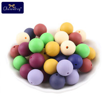 30pc Food Grade Silicone Beads 12mm Pearl Baby Toy DIY Teething Necklace BPA Free Pacifier Chain Accessoriey
