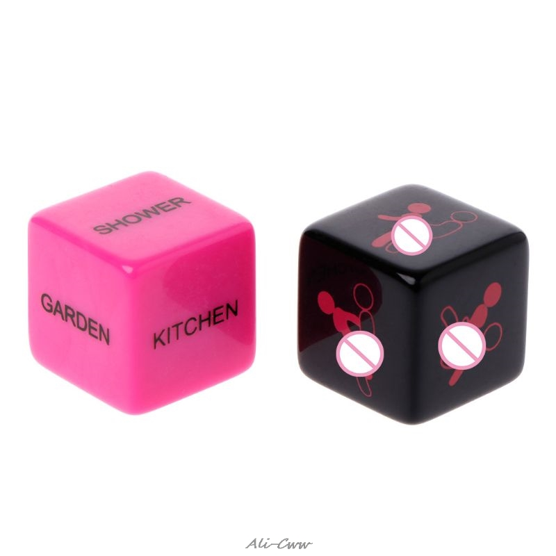 1 Pair Sex Dice Position Fun Adult Erotic Love Sexy Posture Couple Lovers Humour Game Toy Novelty Party Gift