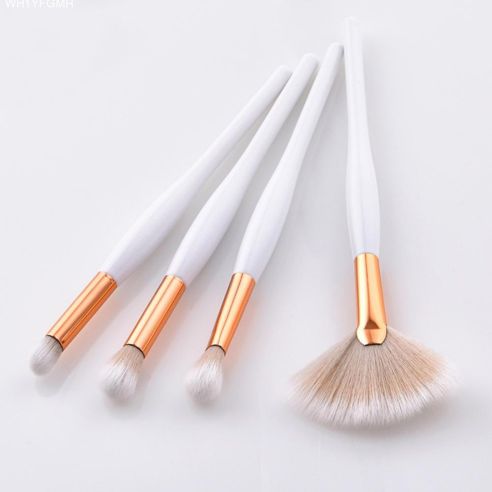 4PCS Wood Cosmetic Make Up Brushes Foundation Powder Eyebrow Lip Eyeshadow Brush Beauty Tools Soft Hair Makeup Brush Sets