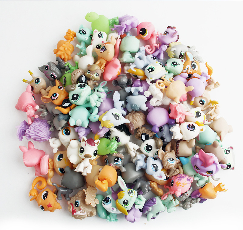 Free Shipping 10 pcs/lot 3.5cm LPS Unicorn mini Action Figures Vinyl Dolls Pets Kitty Toy Anime Kids Gifts Toys for Children