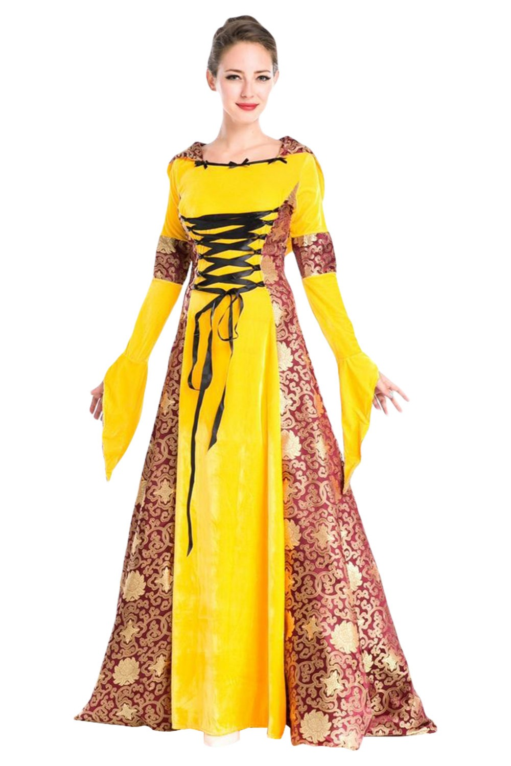 European Retro palace aristocratic Dress costume British Queen Halloween costume Adult Women