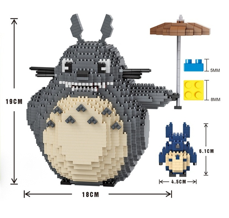 Balody Mini Blocks  Big Size Alvin DIY Building Toys Large Totoro Bricks Cute Sonic Model Toy Juguetes for Kids Toys 16006 new big size 40 40cm blocks diy baseplate 50 50 dots diy small bricks building blocks base plate green grey blue