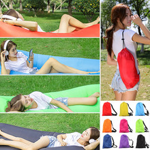 230*70cm Fast Inflatable Lazy bag Air Sleeping Bag Camping Portable Air Banana Sofa Beach Bed Air Nylon Sofa Laybag(China)