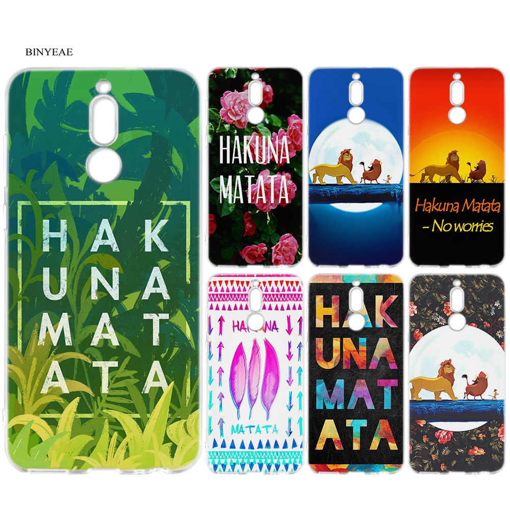 Silicone Cover Case for Huawei Mate 10 20 P10 P20 P30 Honor 9 10 Lite Pro P Smart 2019 Hakuna Matata Lion King Cute Coque Case