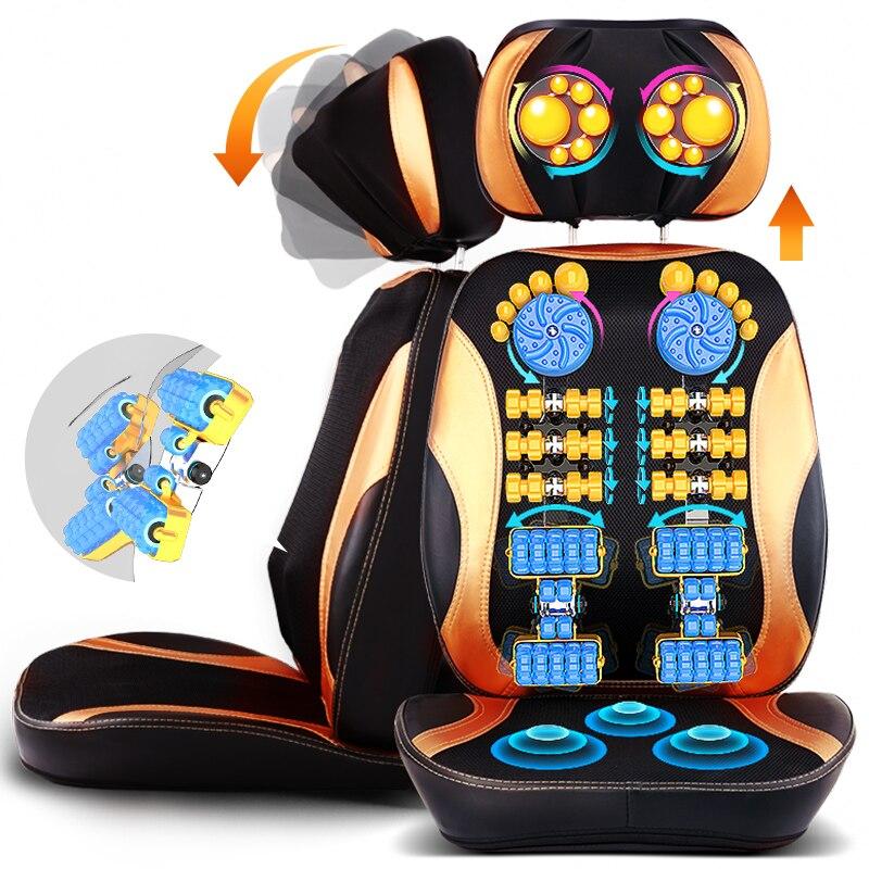 5D Électrique massage du dos vibra Cervicale malaxage appareil de massage multifonctionnel oreiller cou ménage complet du corps chaise De Massage