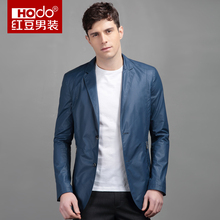 Hodo Men s Casual Imitation Collar Pippin Then West Slim Male Leather Jacket Men Leather Jacket