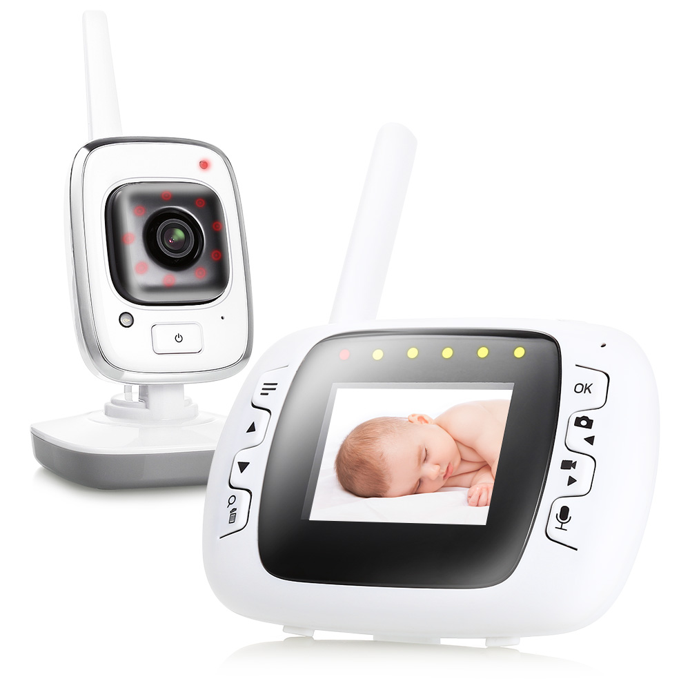 2.3 Inches Video Baby Monitor Wireless Digital Camera With Night Vision High Resolution Baby Security Temperature Monitoring