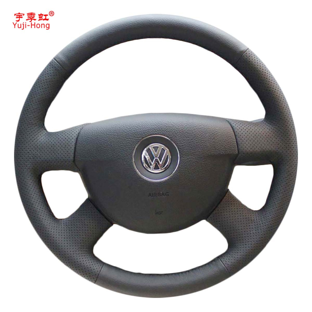 Yuji-Hong Artificial Leather Car Steering Wheel Covers Case for Volkswagen VW Passat B6 Hand-stitched Micro-fiber Cover