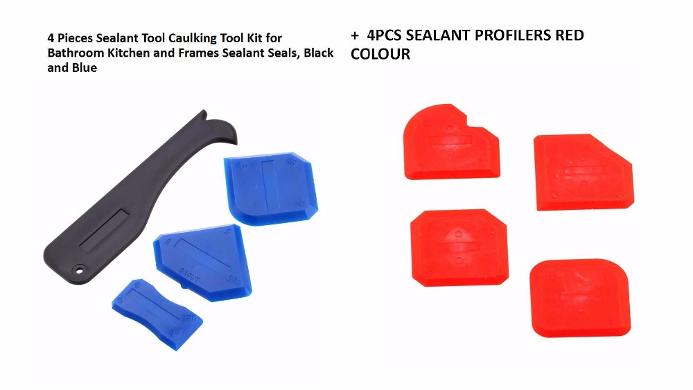 5sets Per Pack Caulking Tool Set Silicone Sealant Scraper Grout Finishing Tool Silicone Removal Tool Sealant Sealing Buddy