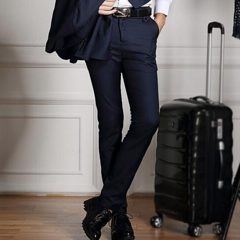 New 2017 High Quality Menu0026#39;s Fashion Slim Fit Suit Pants Men Skinny Formal Pants Business Blazer ...