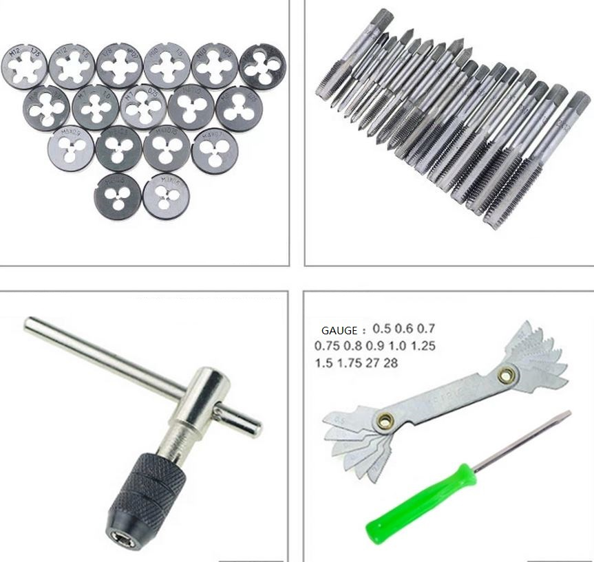 taper gauge kit. tap \u0026 die set wrench metric screw thread taper drill tool kit 40pcs gauge-in from home improvement on aliexpress.com | alibaba group gauge kit t