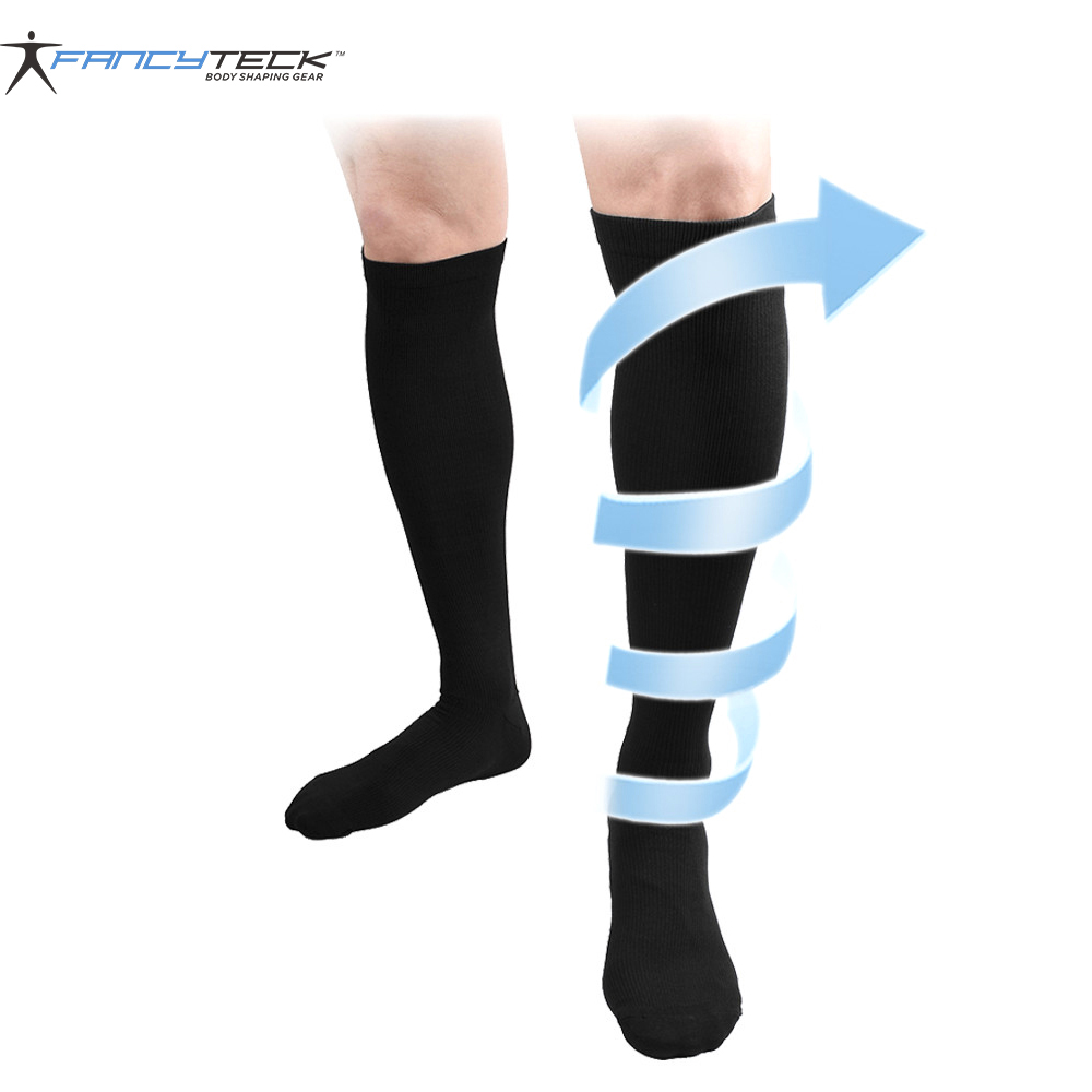 Men's Socks Long Miracle Compression Knee Socks Blood Circulation Stockings Breathable Fat Burn Leg Slimming Socks Anti Fatigue Male Socks Factories And Mines