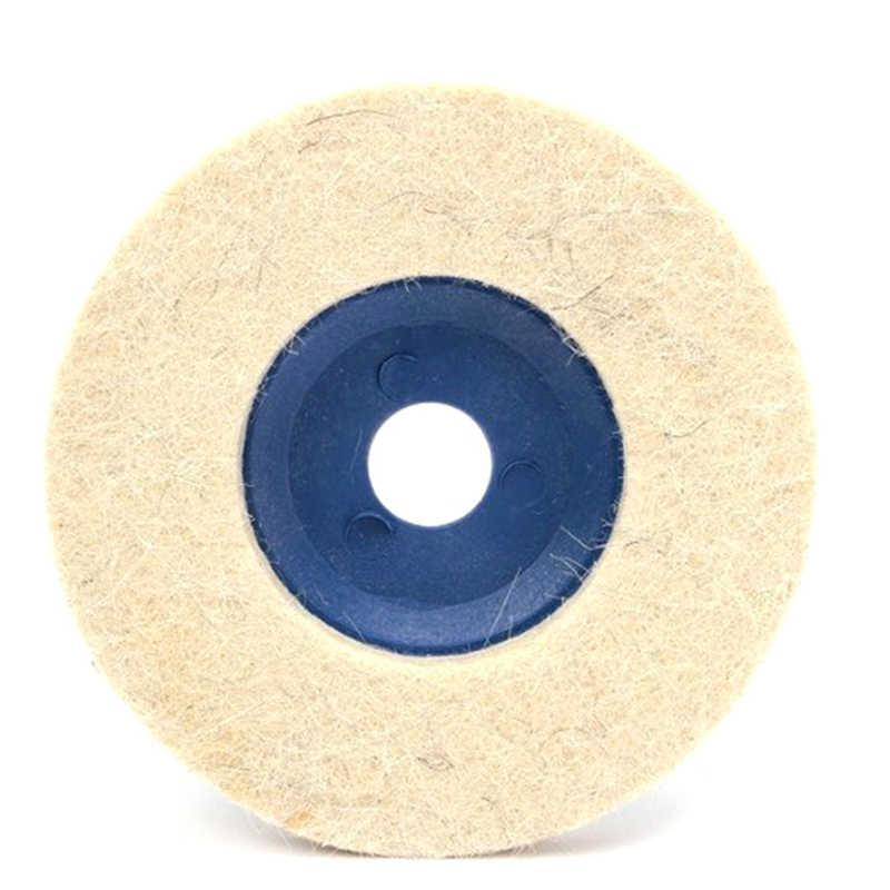 100mm lã polimento roda almofadas polimento ângulo moedor roda feltro polimento disco polidor