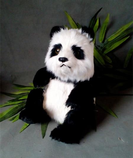 simulation cute panda 31x22x31cm model polyethylene&furs sitting panda model home decoration props ,model gift d442 big sitting simulation white cat model plastic