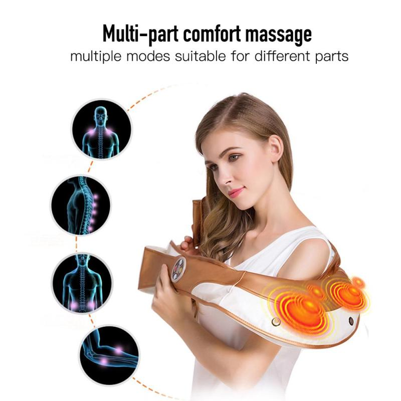 U Shape Electrical Massager Shiatsu Cervical Back Neck Infrared Heated Shoulder Massagem Home Car use Machine L3 ограничитель ekf opv d1