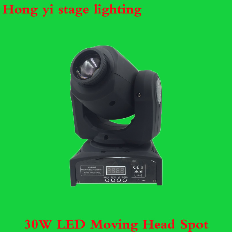 (1pcs/lot) hot sell Mini Spot 30W LED Moving Head Light With Gobos Plate&Color Plate,High Brightness 30W Mini Led Moving Head newest mini spot 30w led moving head light with gobos plate
