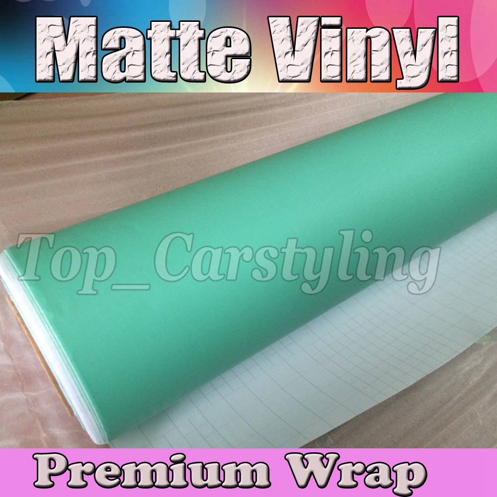 PROTWRAPS TIFFANY MATT Vinyl Car Wrap Film With Air release Matte Black Vinyl Vehicle Wrapping Covering 1.52x30m/Roll (5ftx98ft)