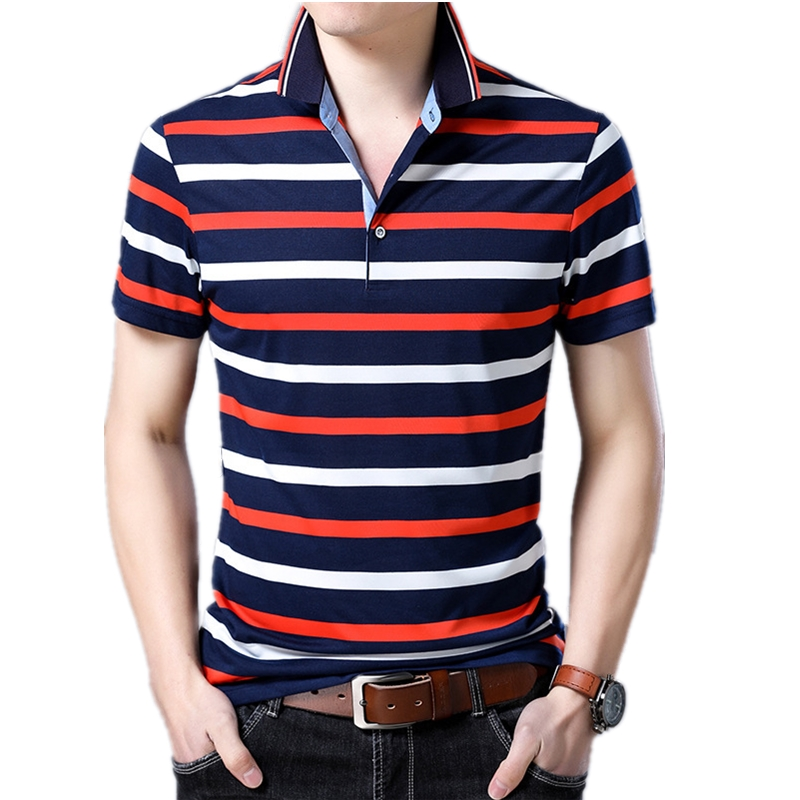 New Brand Male Short Sleeve Polo Homme Breathable Anti-Pilling Striped Polo Shirt Men Pullover Casual Silm Fit Polos Para Hombre