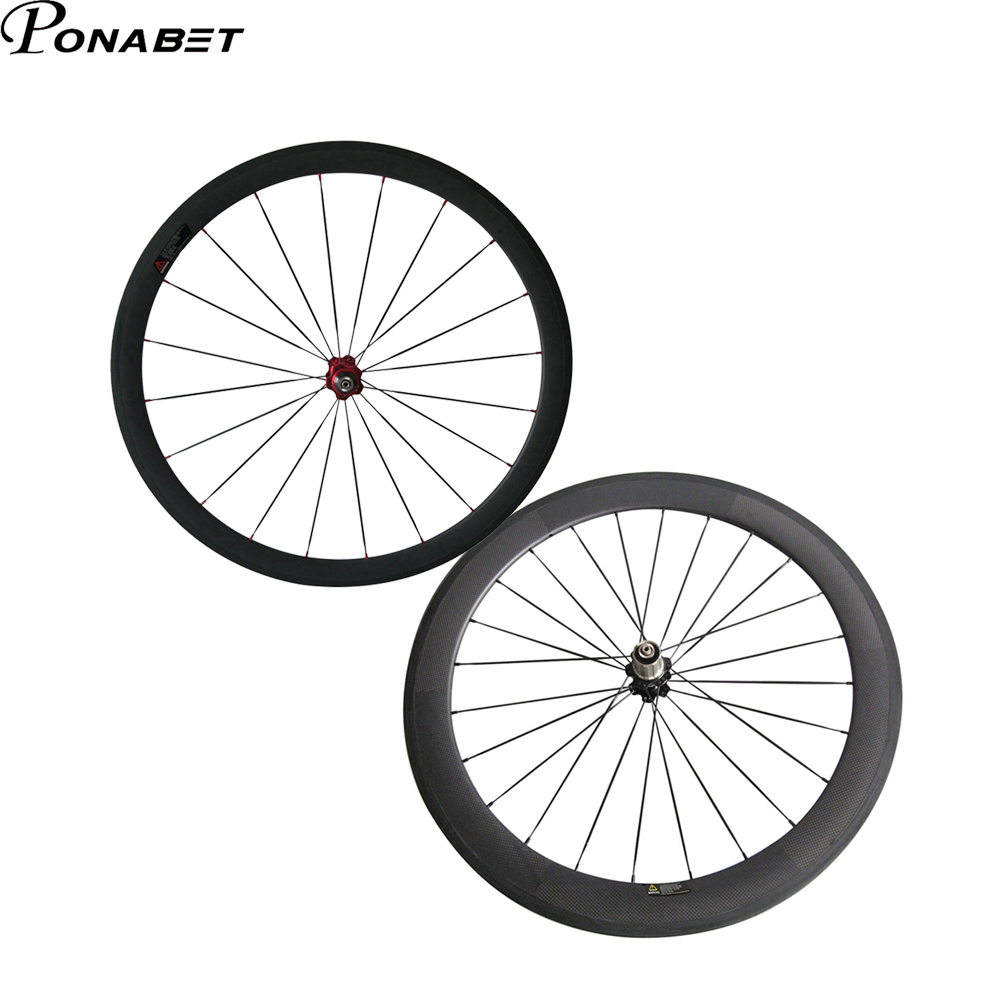 PONABET  23mm full carbon wheelset  38mm front and 60mm rear tubular  bicycle wheels
