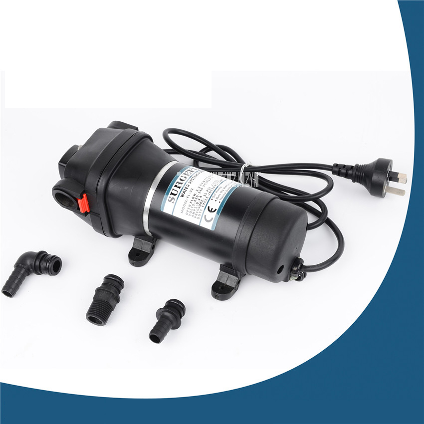 New FL-32 220V 132W Home Self-contained Diaphragm Pump Mini Water Pump Automatic Pressure Switch AC Pump 12.5 / 3.3ipm / gpm 20m fl 32 33 220 110v ac water pump self priming diaphragm pump mini submersible pump automatic pressure switch 20m lift