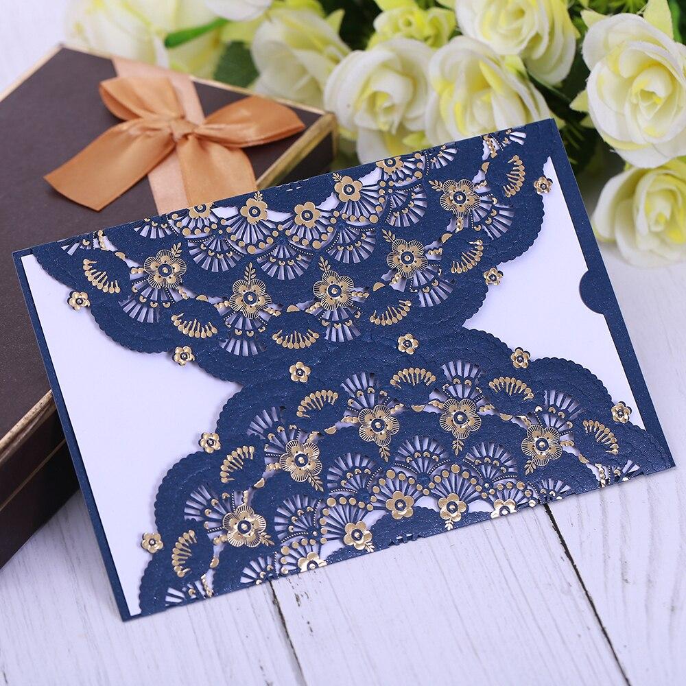 Tarjeta de invitación de la boda de estilo de negocios de lujo corte - Para fiestas y celebraciones