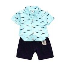 Summer Baby Boys Girls Clothing Sets Kids T-shirt Short 2PCS/Set Children Cartoon Moustache Clothes Sport Suits Infant Tracksuit стоимость