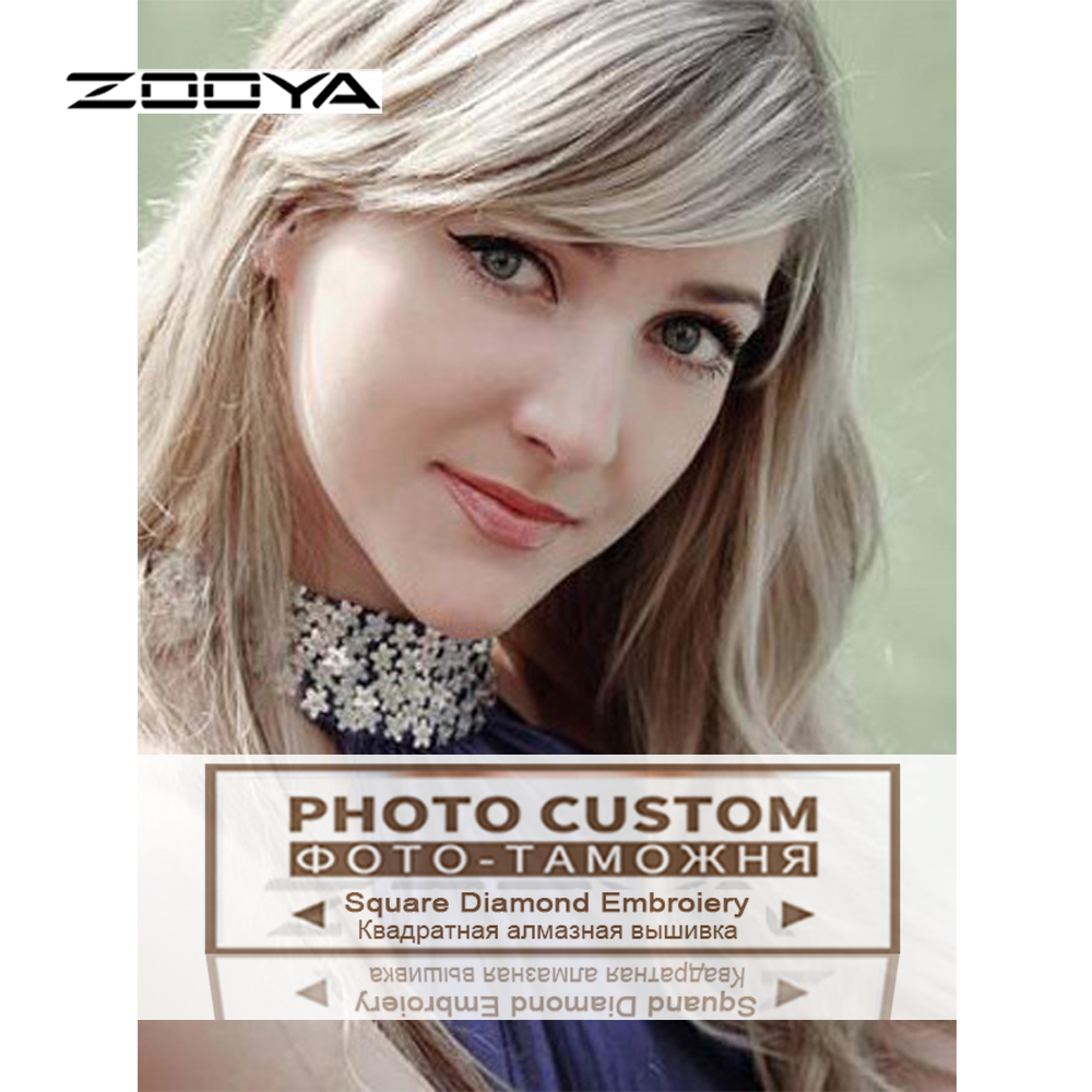 ZOOYA Picture Photos Custom Diy Diamond Painting Kit Full Rhinestone 3D  Square Diamond Cross stitch Pasted Embroidery Family DZ1