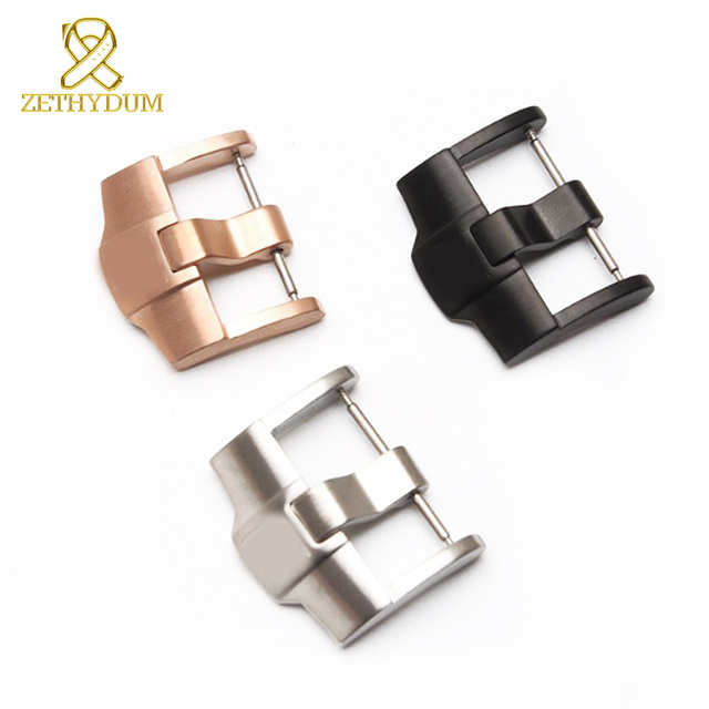 Stainless steel watchband buckle 316L solid metal pin clasp 20 22 24mm Watch but