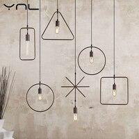 LED Pendant Lights Cord Creative Modern Loft Metal Black Pendant Lighting E27 Edison Bulb For Restaurant